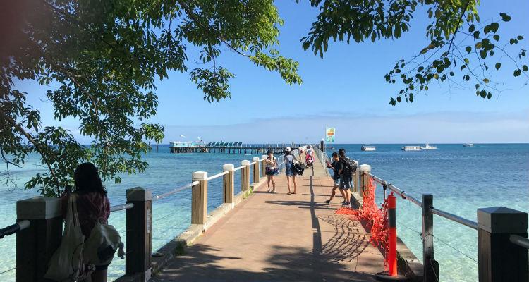 チャレンジホームステイ、ケアンズ、オーストラリア、グリーン島、ビーチ