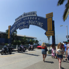 ロサンゼルス、サンタモニカ、ビーチ