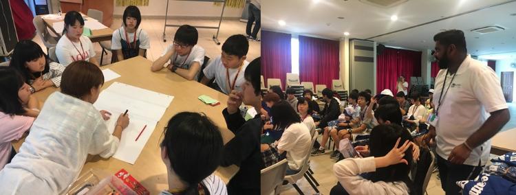 シンガポールでの海外研修プログラム風景