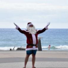 ゴールドコースト、サンタ、クリスマス