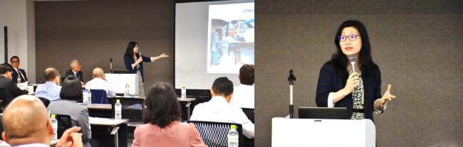ISAシンガポールオフィス開設特別セミナー ISA執行役員 国内研修部部長 寺澤ますみ講演
