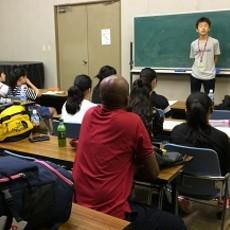 イングリッシュキャンプでの英語スピーチ